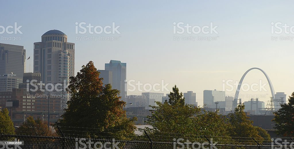 St. Louis skyline in the morning stock photo
