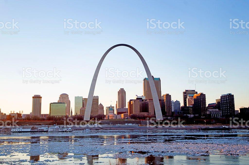 St. Louis Skyline stock photo