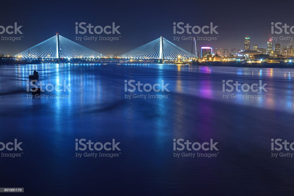 St. Louis Skyline with Bridges stock photo