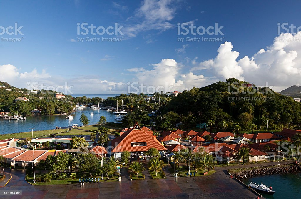 St. Lucia Castries Bay royalty-free stock photo