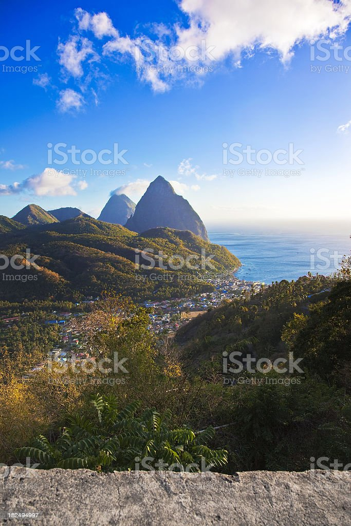 St. Lucia in the Caribbean stock photo