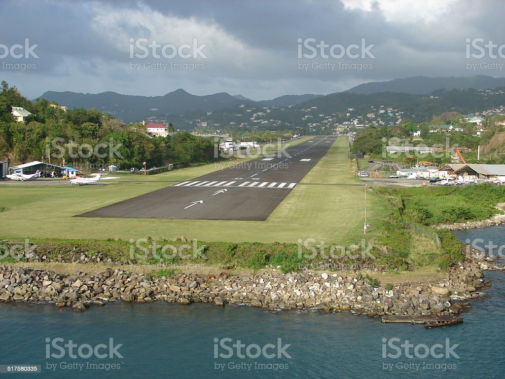 St. Lucia Island Airport stock photo