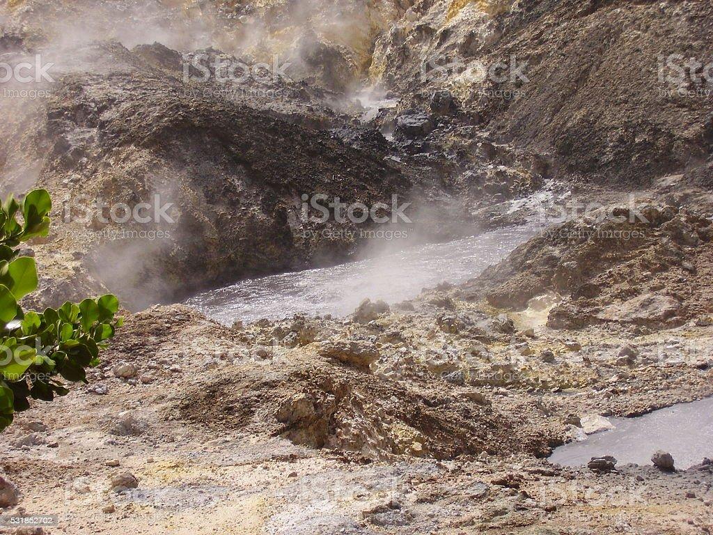 St. Lucia Piton Volcanic Activity stock photo