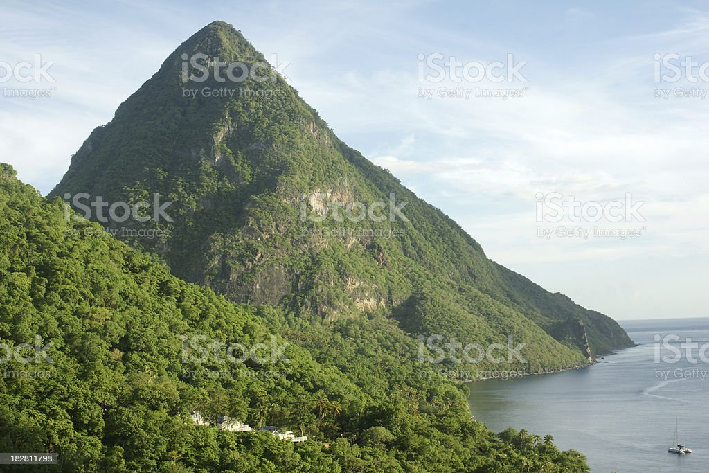 St Lucia Piton stock photo