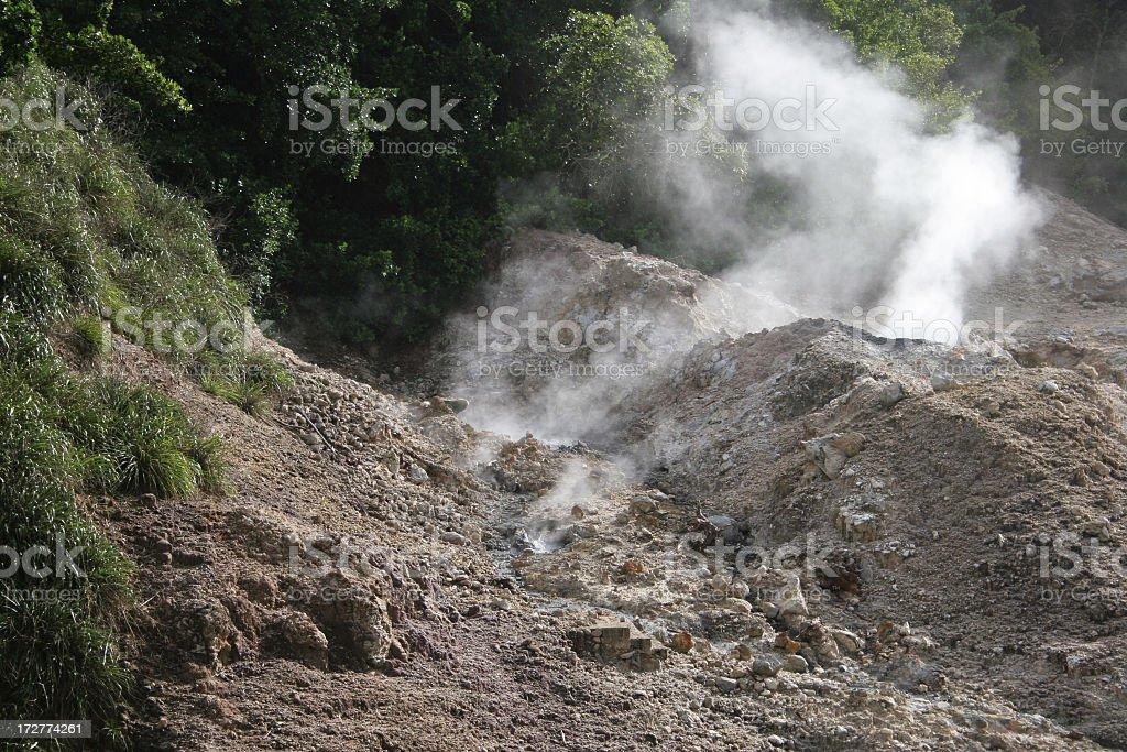 St Lucia Sulphur springs royalty-free stock photo