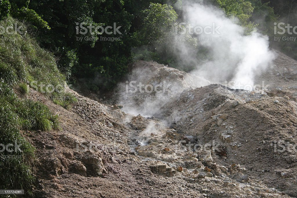 St Lucia Sulphur springs stock photo