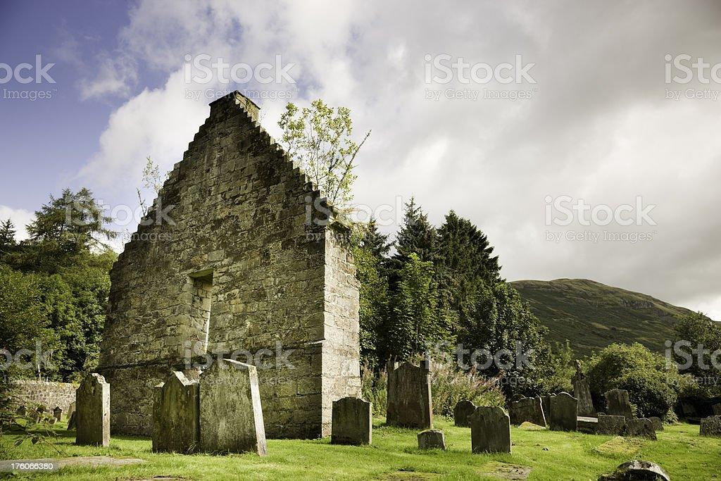 St Machan's Church, Clachan of Campsie, Scotland stock photo