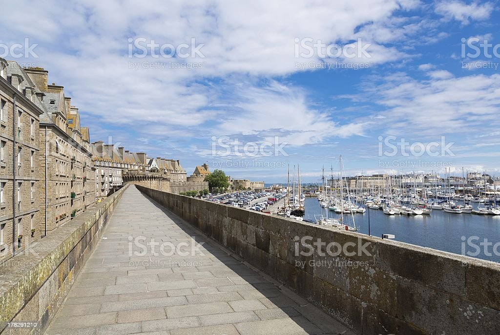 St Malo, Brittany, France stock photo