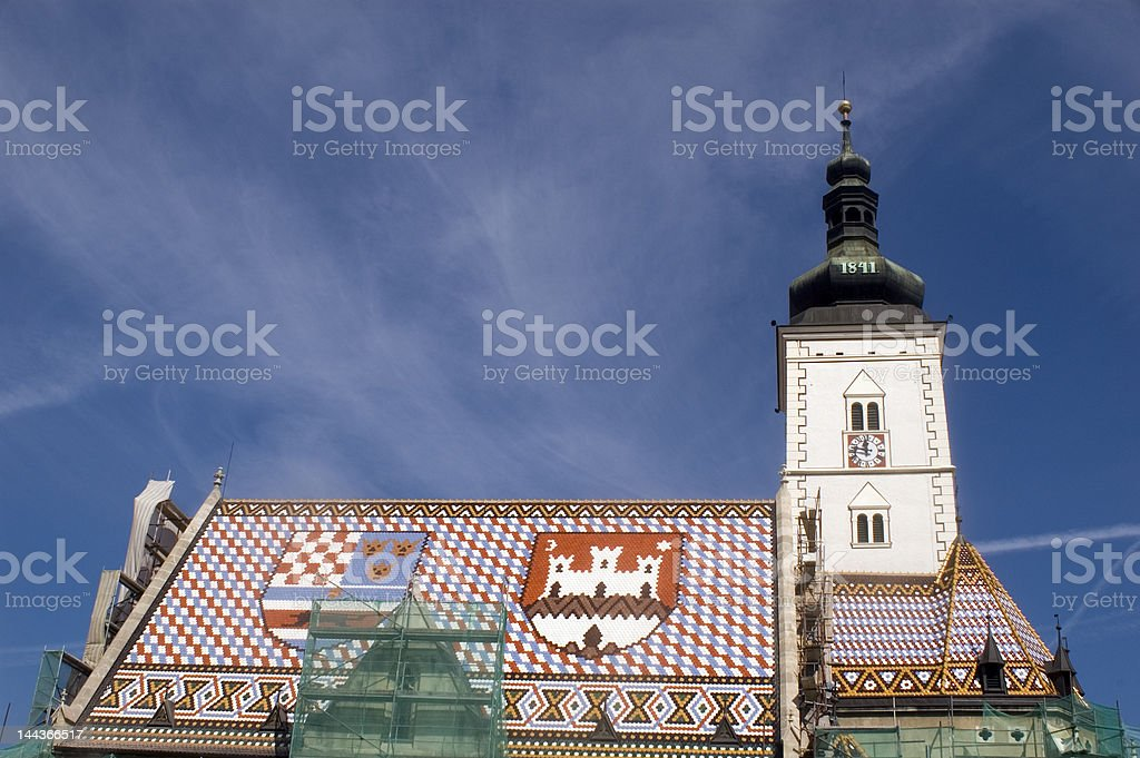 St. Marco church Zagreb Croatia stock photo