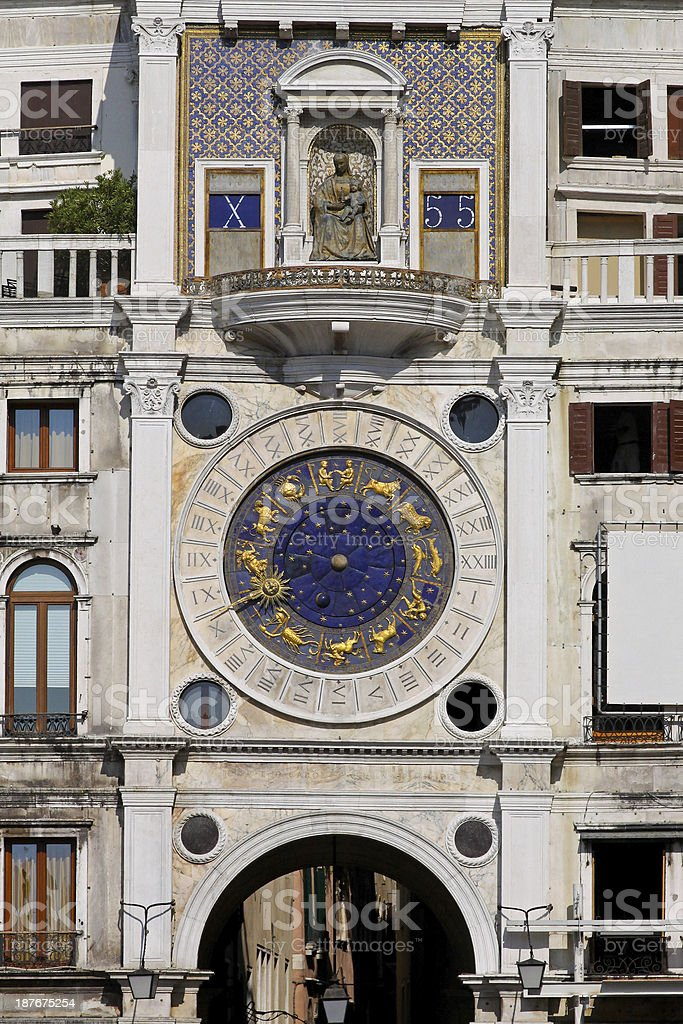 St. Marco clocktower royalty-free stock photo
