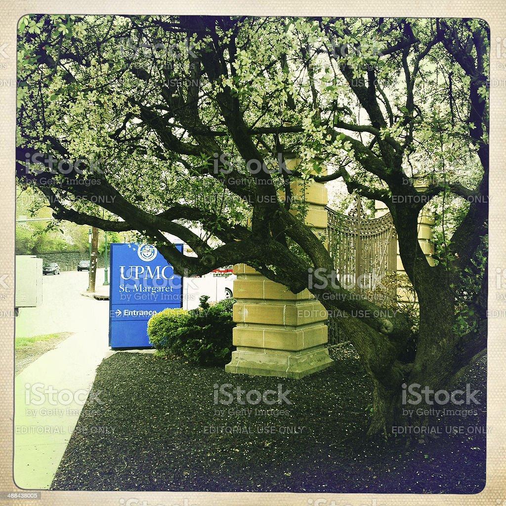 UPMC St. Margaret Hospital Entrance stock photo