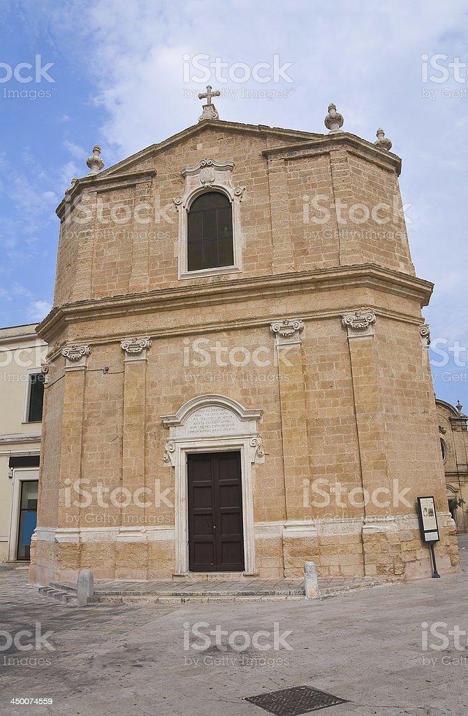 St. Maria della Pietà Church.San Vito dei Normanni.Puglia.Italy. royalty-free stock photo