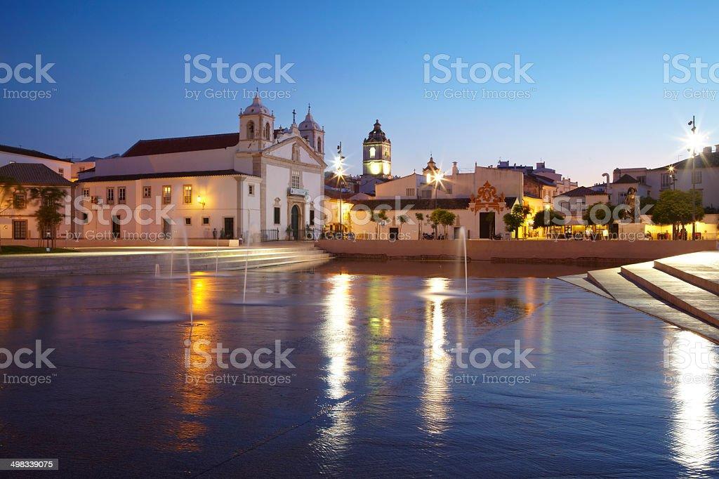 St. Maria Kirche in Lagos, Portugal stock photo