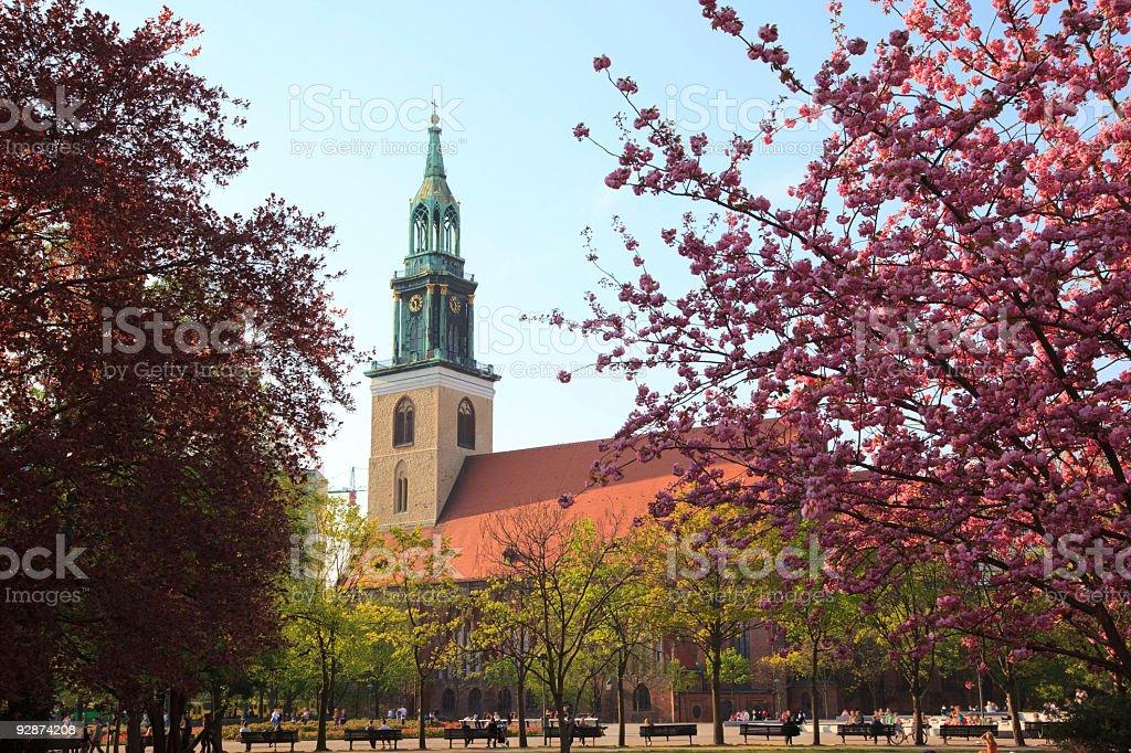 St. Marien-Kirche stock photo