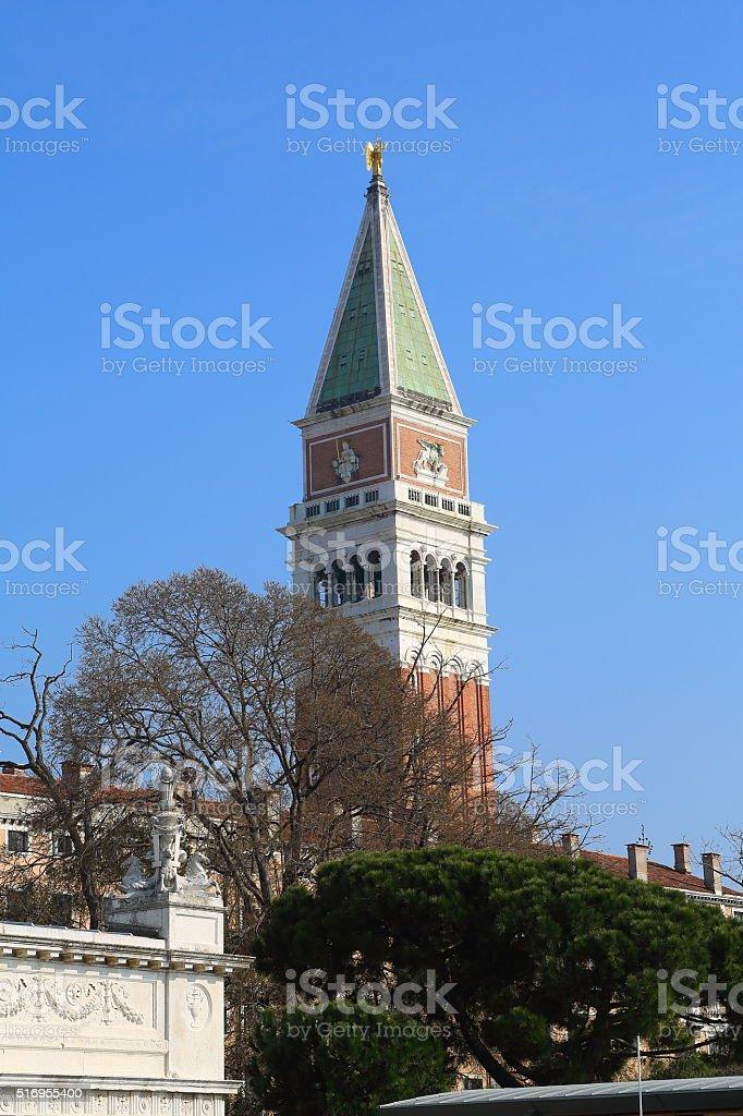 St. Mark Tower, Venice, Italy stock photo