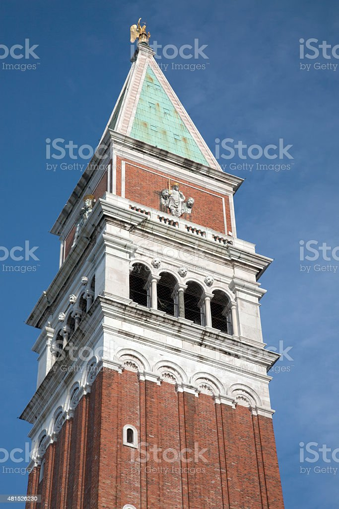 St Marks Bell Tower - Campanile; Venice stock photo
