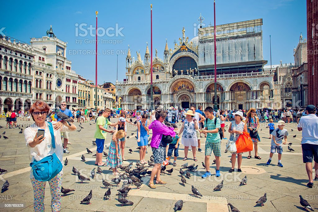 St Mark's Campanile, Venice stock photo