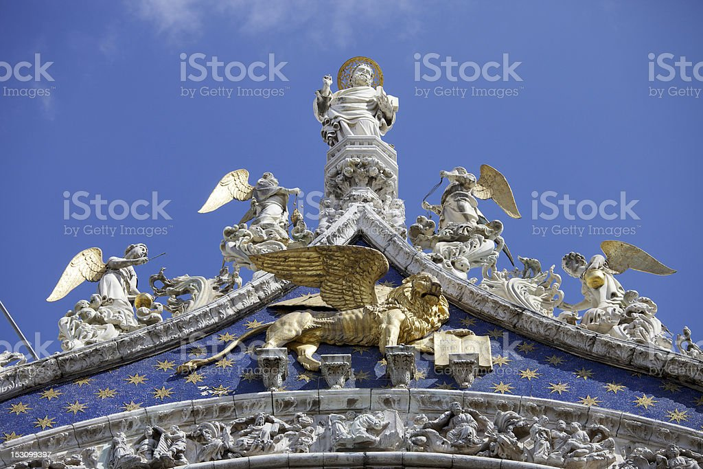 St. Mark's Cathedral In Venice royalty-free stock photo