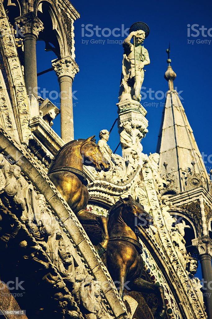 St. Marks Cathedral in venice stock photo