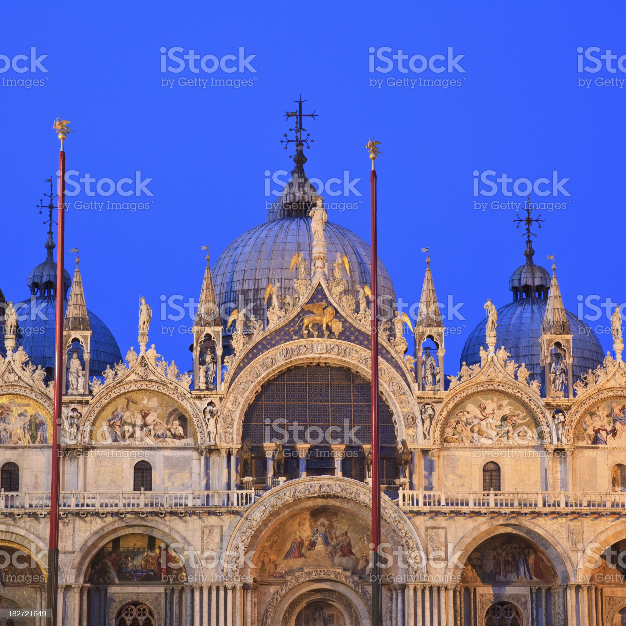 St. Mark's Cathedral, Venice at Dusk royalty-free stock photo