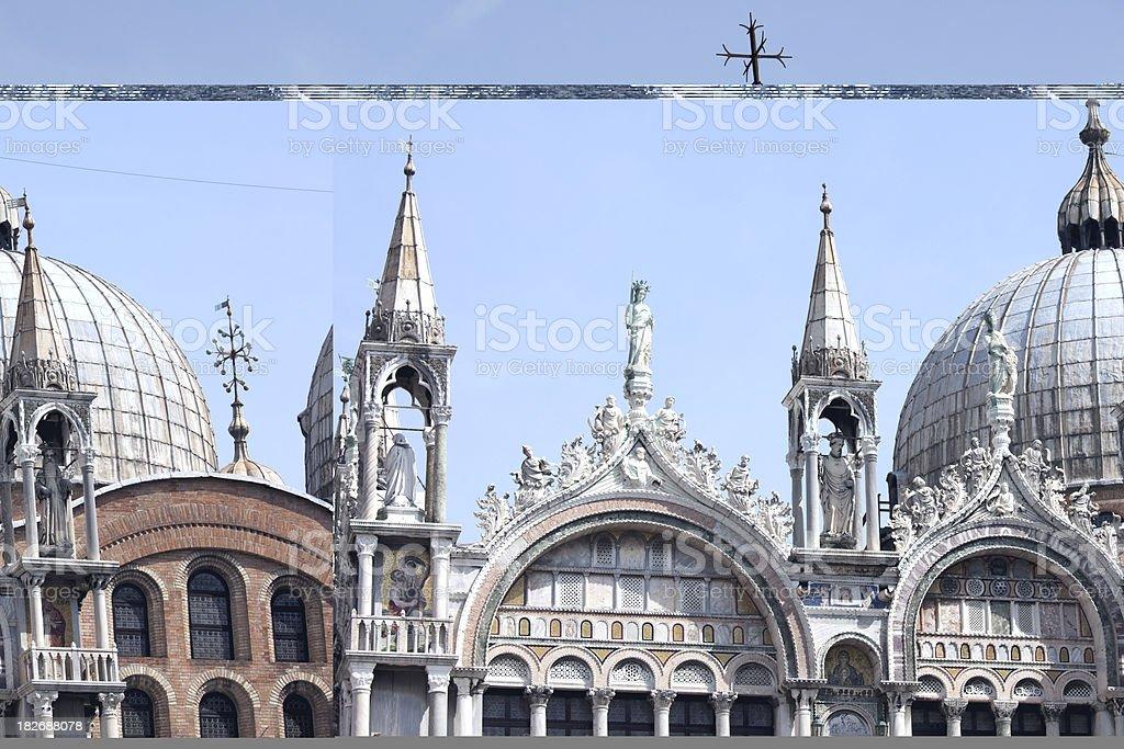 St Mark's Church Venice Italy, Basilica San Maro Venezia Italia royalty-free stock photo