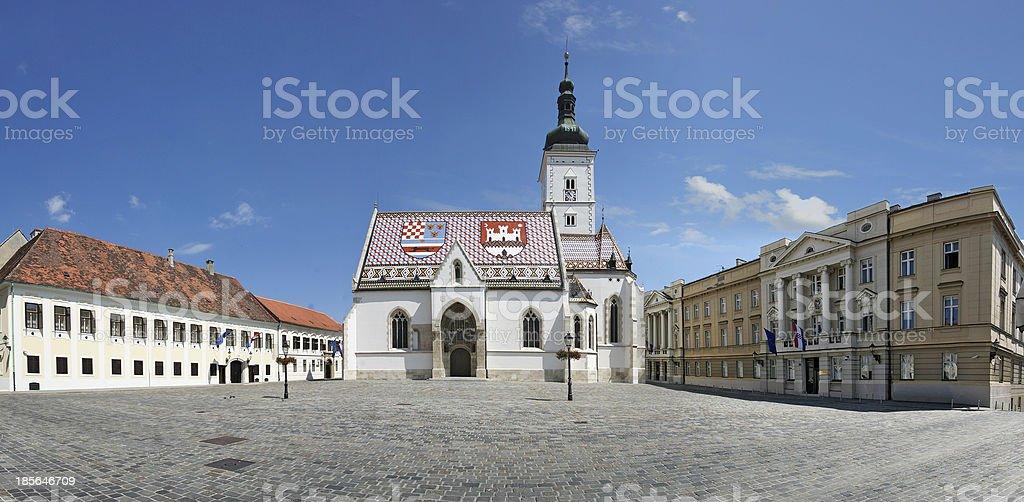 St Marks Church, Zagreb royalty-free stock photo