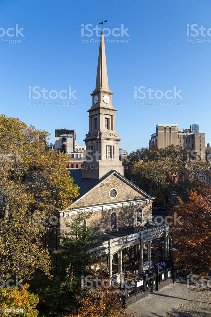St. Marks Church-In-The-Bowery in New York stock photo