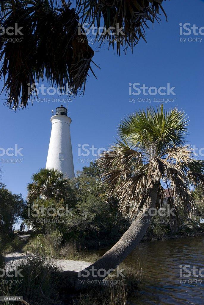 St Marks Lighthouse Florida stock photo