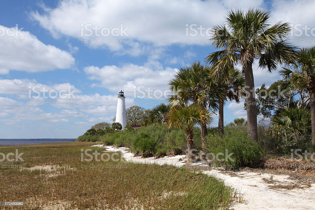 St Marks Lighthouse royalty-free stock photo