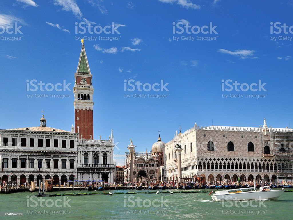 St. Mark's Square as seen from the waters royalty-free stock photo