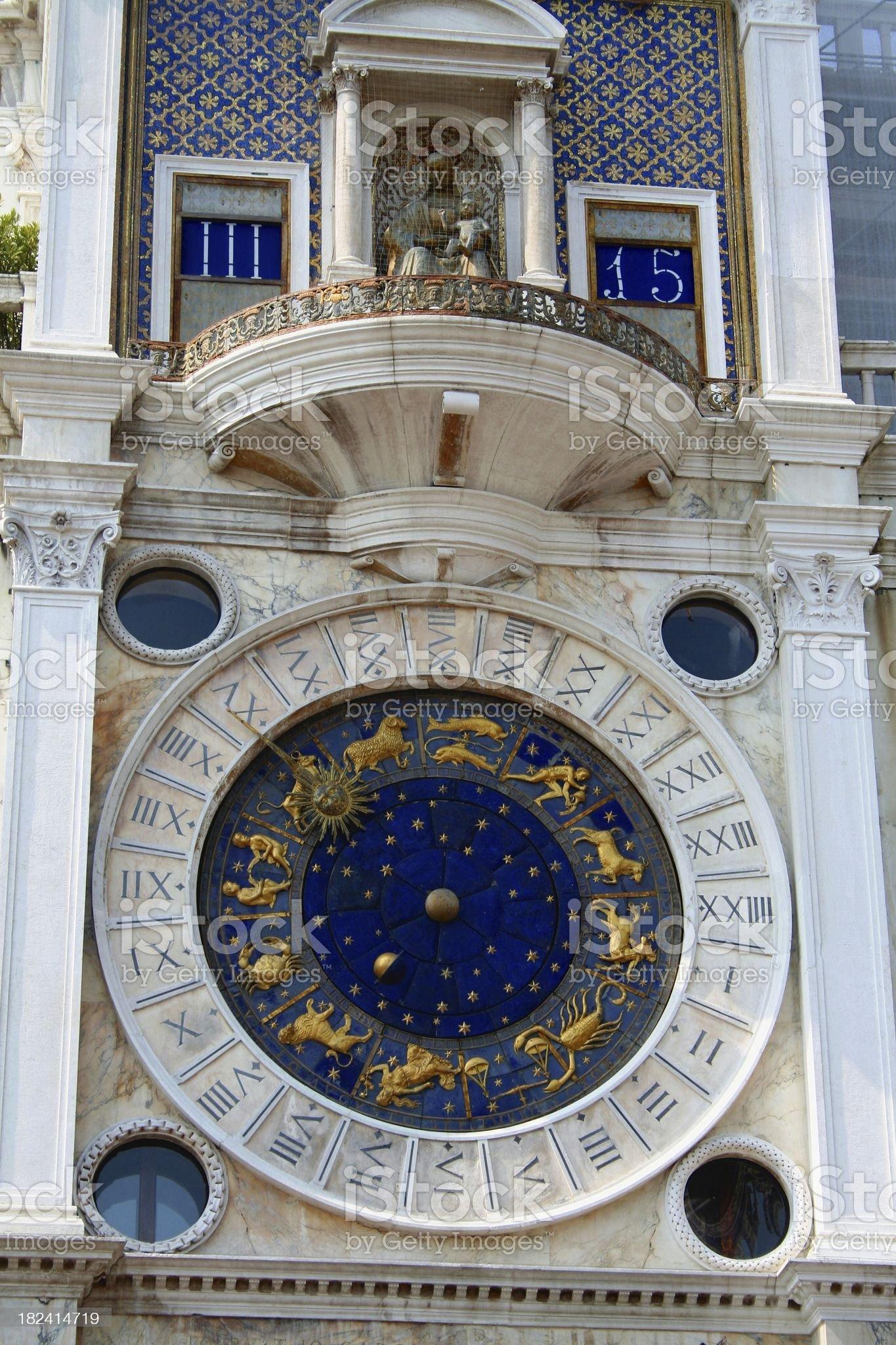 St. Mark's Square clock royalty-free stock photo