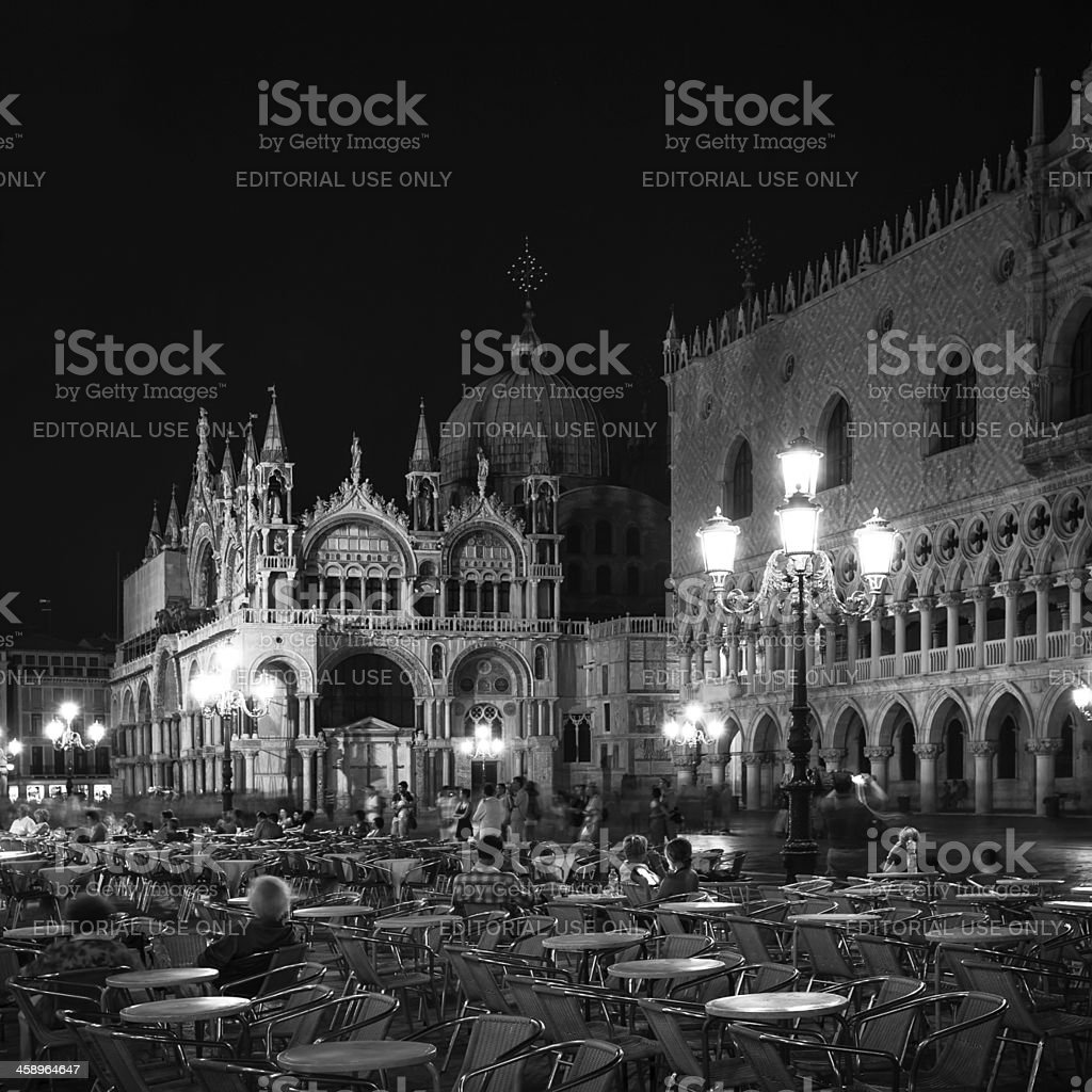 St. Mark's square in the night stock photo