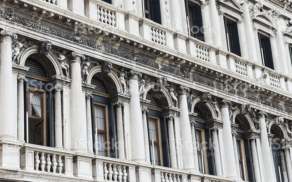 St. Marks square piazzetta facade - Doges palace royalty-free stock photo