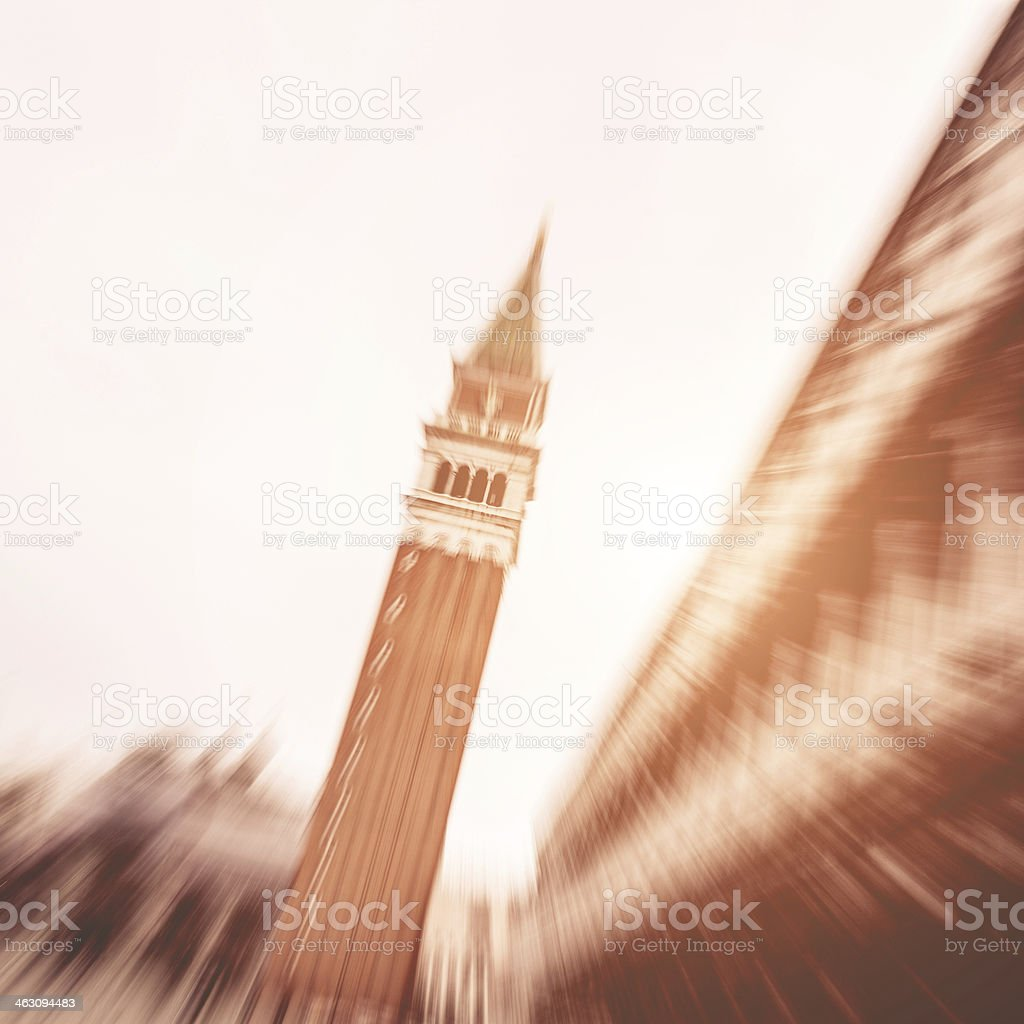 St. Mark's Square tower royalty-free stock photo