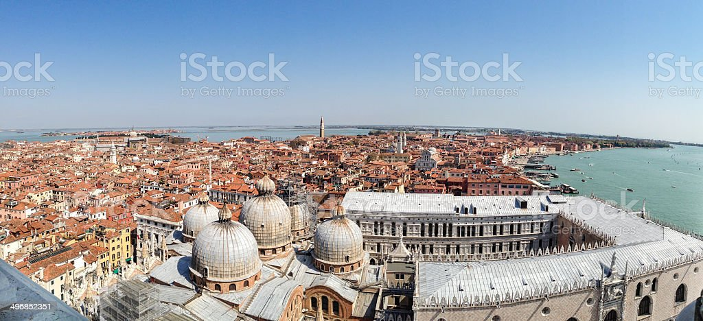 St mark's square with Venice skyline royalty-free stock photo