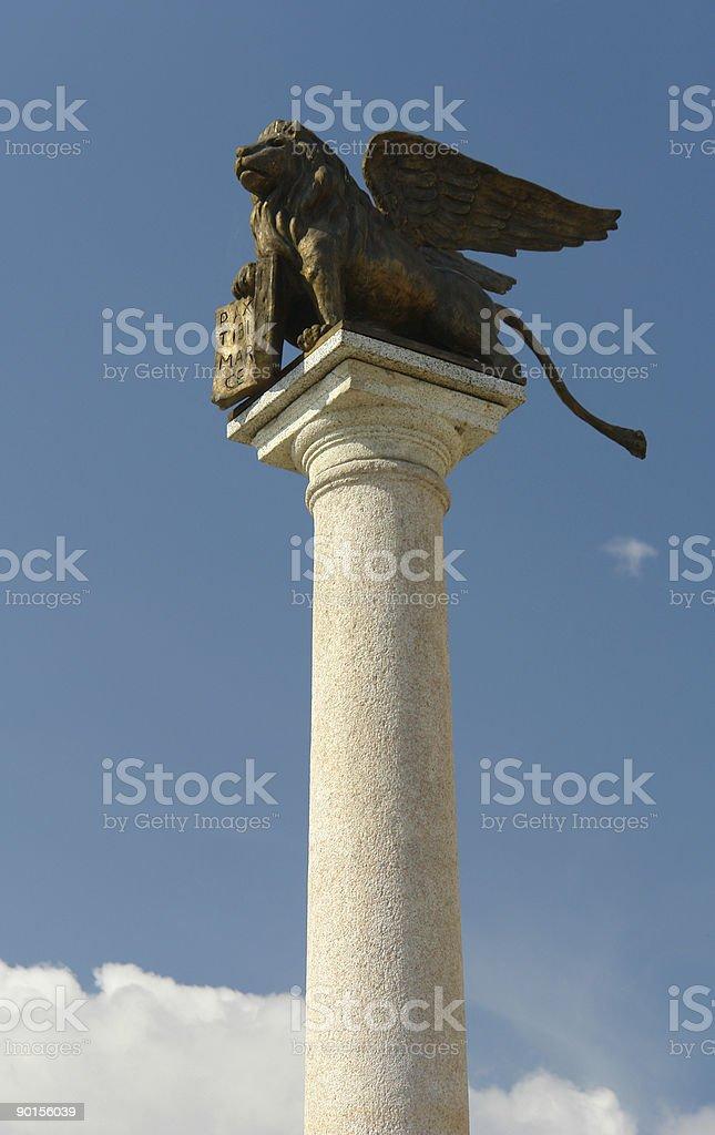 St Mark's winged lion, symbol of Venice royalty-free stock photo