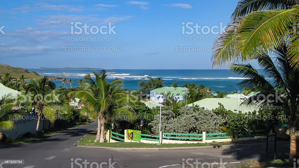 St. Martin in the Caribbean stock photo
