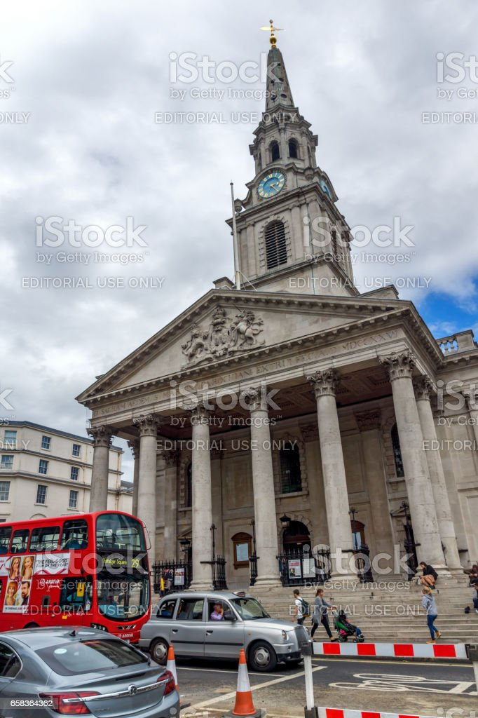 LONDON, ENGLAND - JUNE 16 2016: St Martin in the Fields church,  City of London, England stock photo