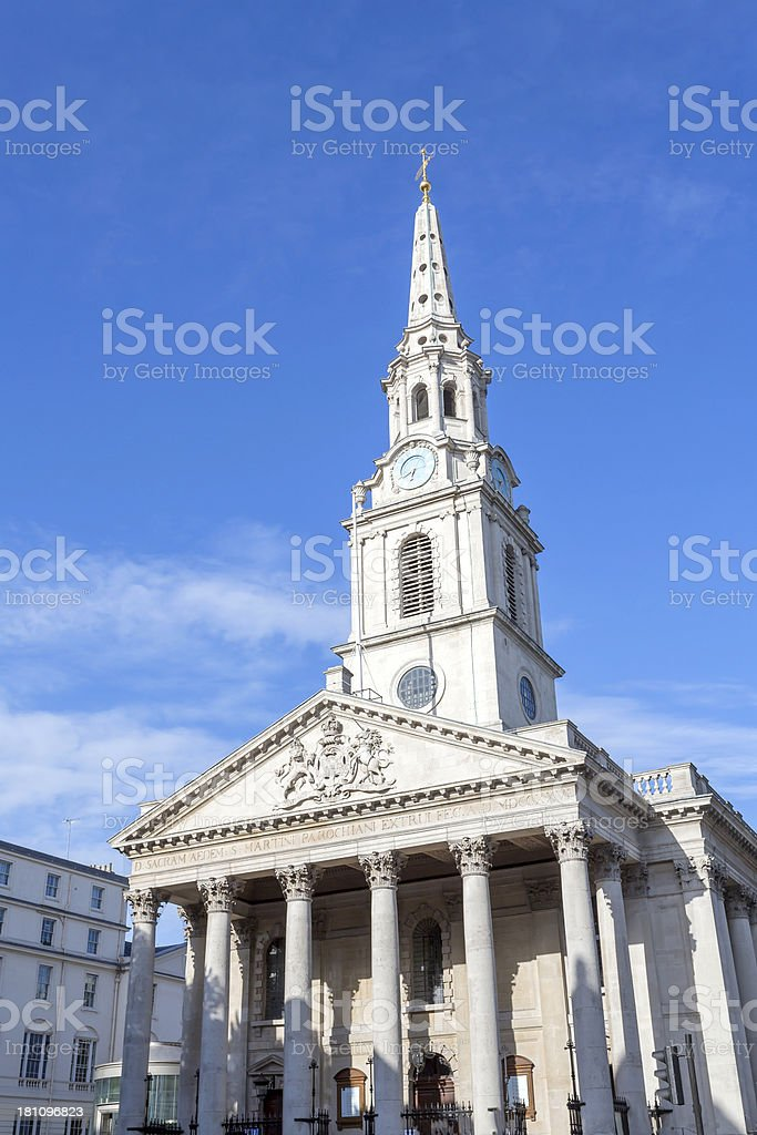 St Martin in the Fields royalty-free stock photo