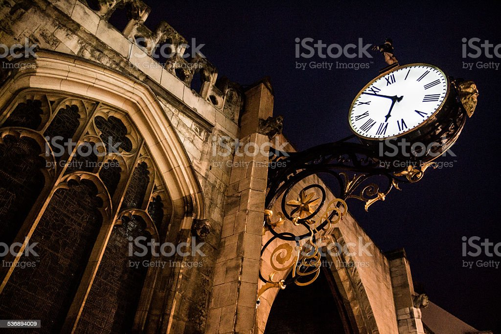 St Martin Le Grand Little Admiral Clock in York stock photo