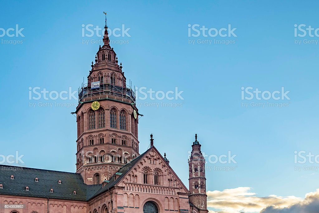 St. Martin's Cathedral in Mainz stock photo