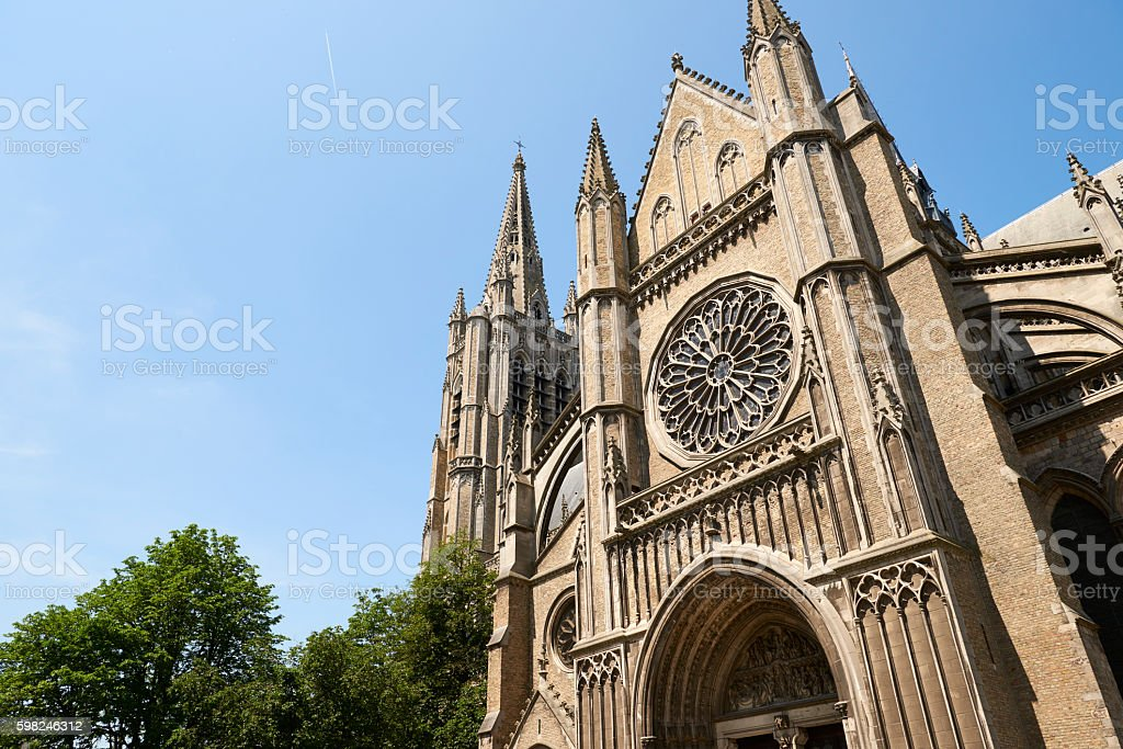 St Martin's Cathedral in Ypres stock photo