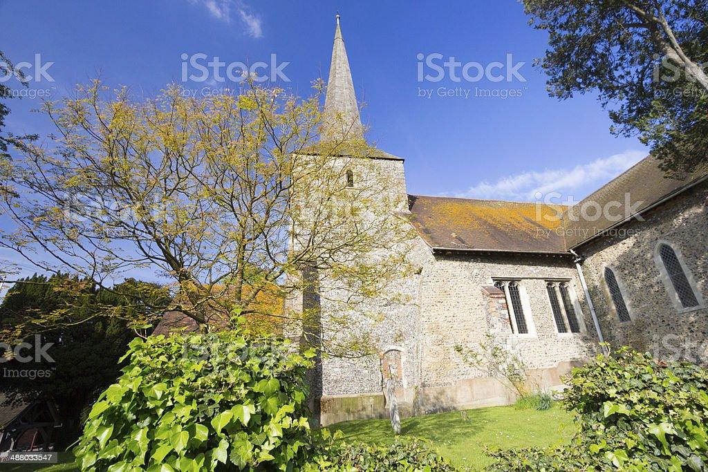 St Martin's Church in Eynsford, England royalty-free stock photo