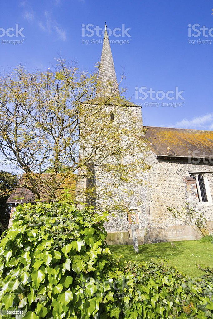 St Martin's Church in Eynsford, England stock photo