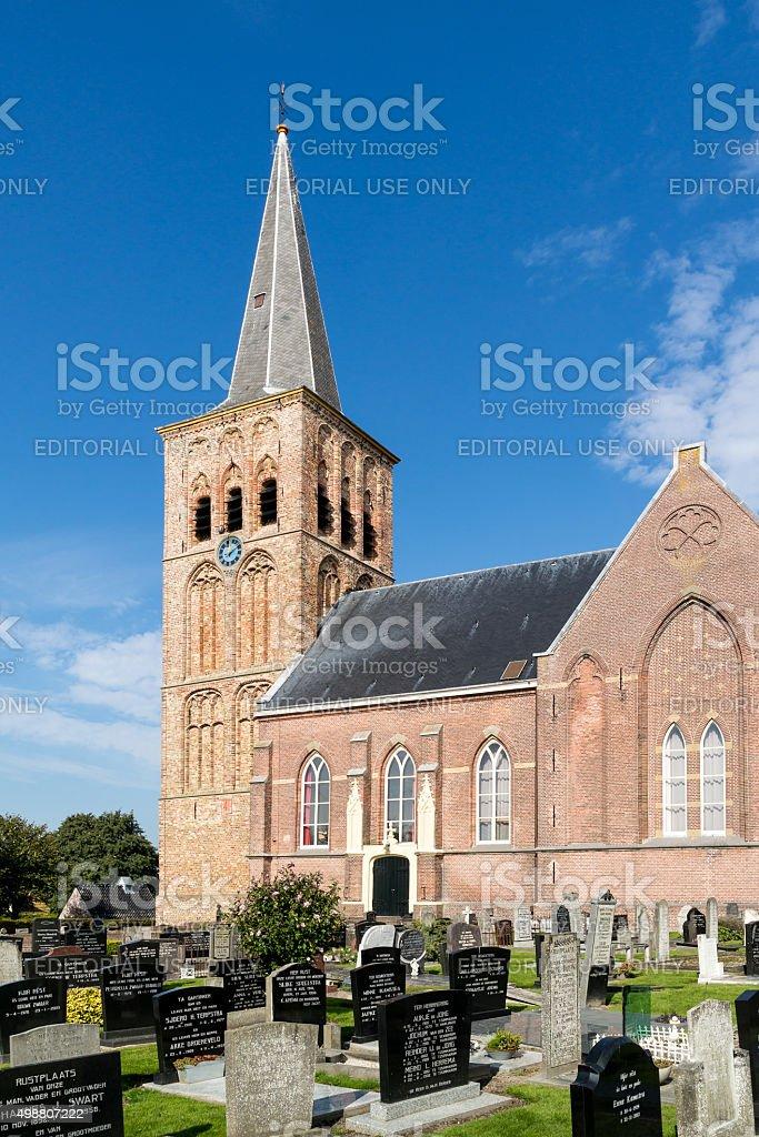 St Martin's Church  in Tzummarum, Netherlands stock photo