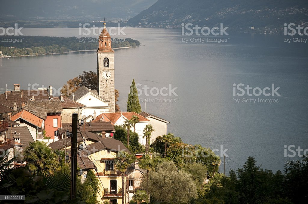 chiesa di san martino, ronco sopra ascona, switzerland royalty-free stock photo