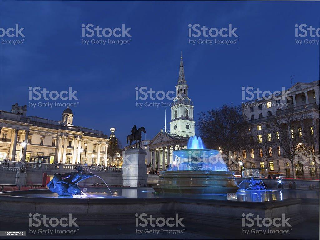St. Martins in the Fields church on Trafalgar Square London stock photo