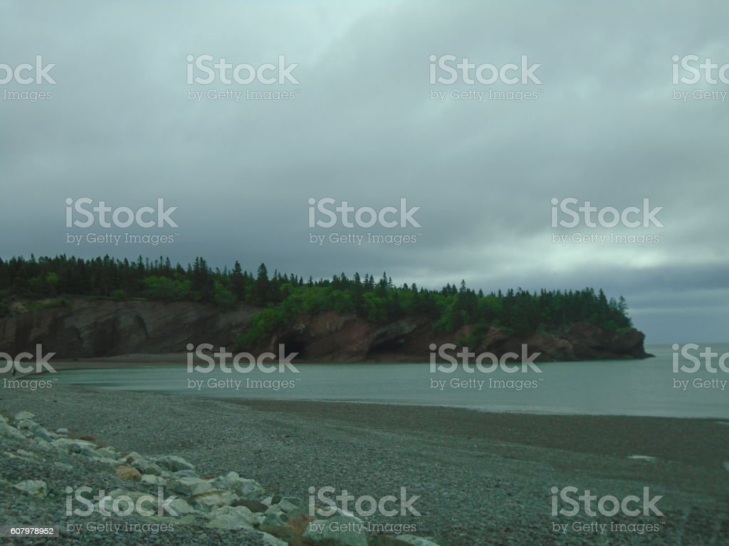 St Martins Sea Caves High Tide stock photo