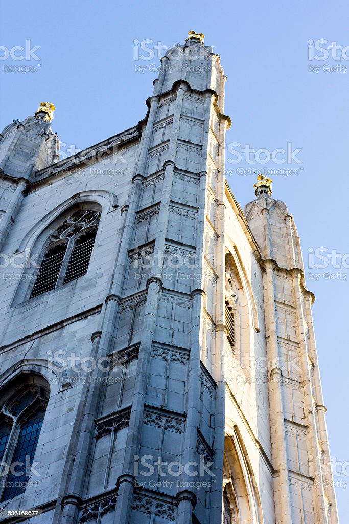 St Mary Aldermary in Bow Lane, London stock photo