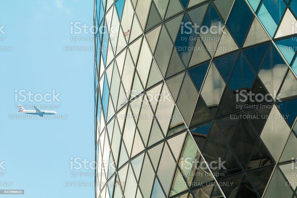 St Mary Axe in City of London, UK stock photo